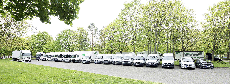 Moderne Logistik. Modernste Fahrzeuge.